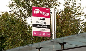 Bus shelter and stop, Belfast (2) See 1530443....