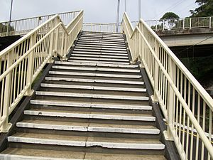 English: coledale station stairs