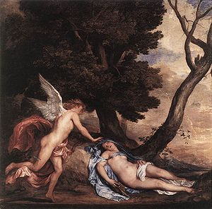 Anthony van Dyck - Cupid and Psyche (1639–40)