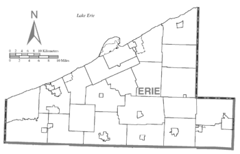 Map of Erie County (without text).