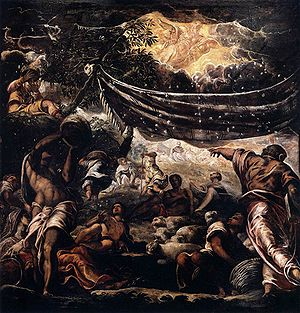 Miracle of the manna. Scuolo di San Roco