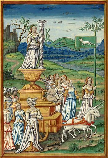 English: Illustration of Petrarch's Triumph of...