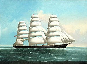 Portrait of an American Clipper Ship