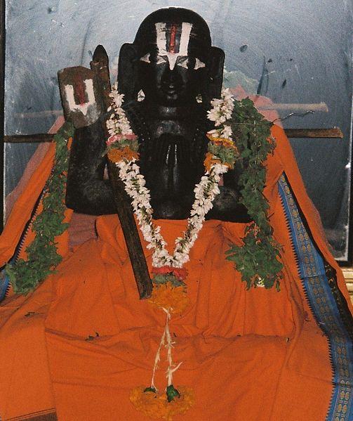 File:Ramanujacharya Idol in a temple.jpg