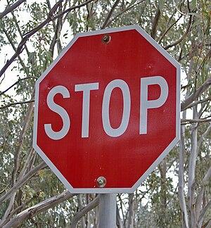 STOP sign in Australia.