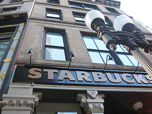 English: Starbucks in the Financial District n...