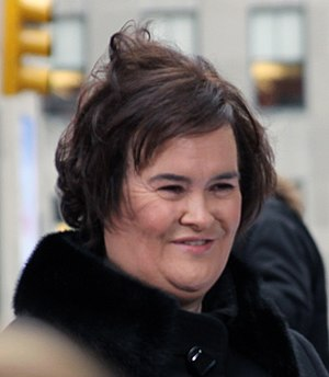 English: Scottish singer Susan Boyle in Novemb...