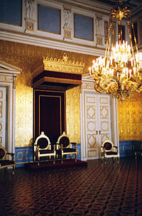 Royal thrones in the Residenz of Munich, Bavaria