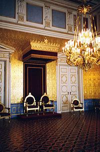 Royal thrones in the Residenz of Munich, Bavaria