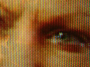 English: Close-up of an analog television scre...