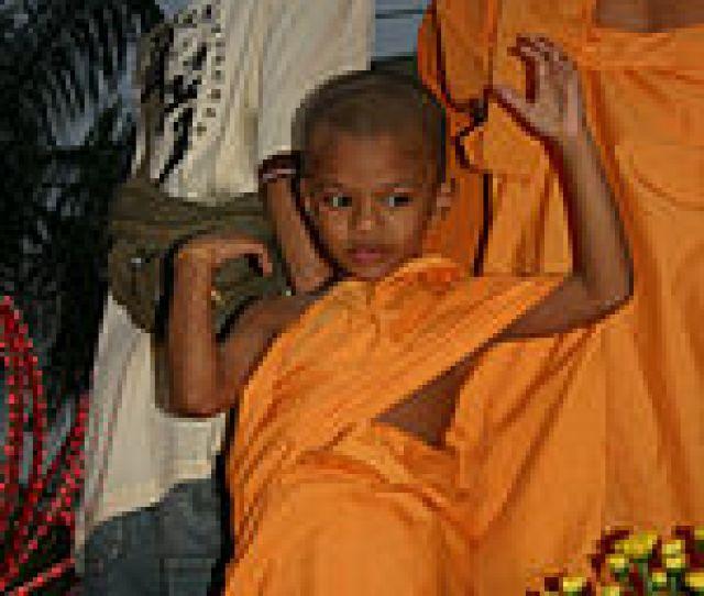 Young Novice Monk On Vesakha Day Parade