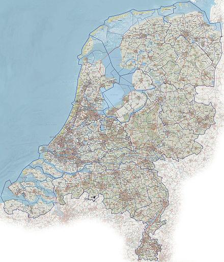 Detaillierte Karte mit Städten und Gemeinden