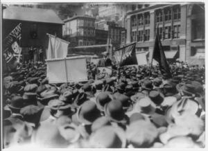 Anarchist Alexander Berkman speaking in Union ...