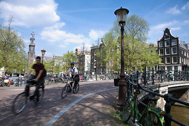 Cycling is very popular in the Dutch capital