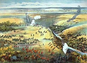Contemporary lithograph of the Battle of Fish ...