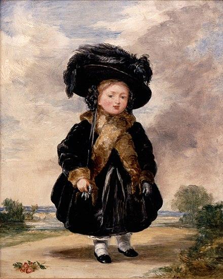 Portrait of Victoria aged four by Stephen Poyntz Denning, 1823