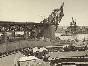 English: Construction of the Sydney Harbor Bri...