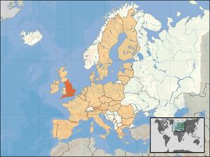 European Union on World Map. Kane Minks