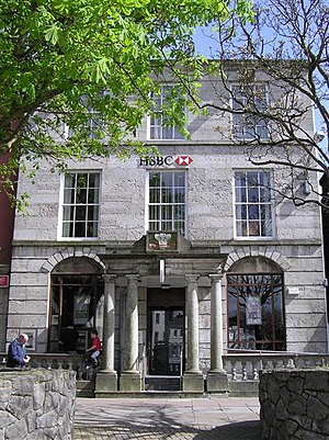 HSBC, Caernarfon. It is located at Castle Square