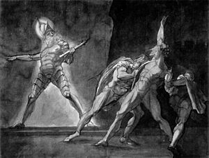 Henry Fuseli - Hamlet and his father's Ghost (...