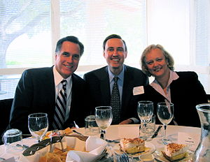 Three ex-Bainies at lunch today Governor Romne...