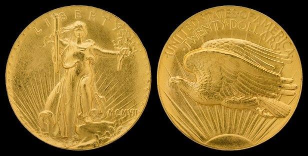 NNC-US-1907-G$20-Saint Gaudens (Roman, ultra high relief, wire edge)