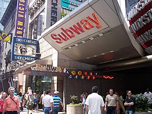 An entrance to the Times Square – 42nd Street ...