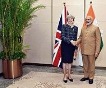 May and Narendra Modi, September 2016