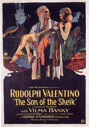 English: Son of the Sheik (1926) film poster.