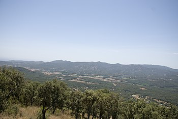 Català: La Vall d'Aro des de Romanyà de la Sel...