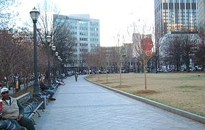 Woodruff Park in Atlanta, Georgia, USA
