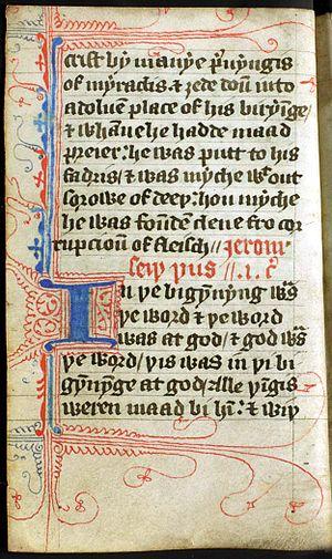 Beginning of the Gospel of John from a pocket ...