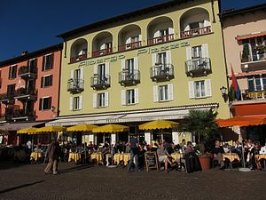 English: Albergo Hotel-Restaurant in Ascona, T...