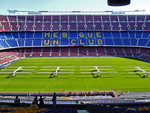 English: Camp Nou, Stadium of F.C. Barcelona, ...
