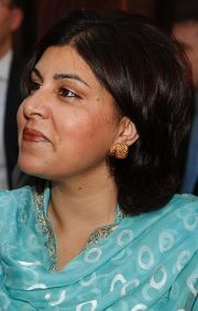 English: Baroness Warsi, minister without port...