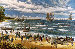 oil on canvas depiction of the Battle of Nassau
