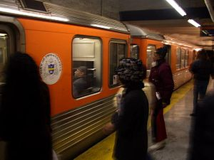 Riders board Philadelphia's Broad Street Subwa...