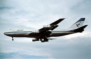 Boeing 747-200 of Iran Air at London Heathrow ...