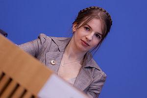 Marina Weisband bei der Bundespressekonferenz
