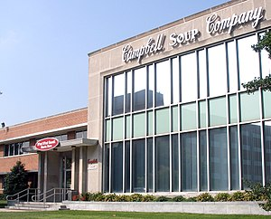 The entrance to the sprawling Campbell Soup Co...