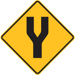 English: Divided Road sign used in Australia. ...
