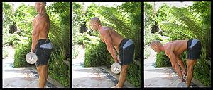 Stiff leg deadlift exercise for hamstrings