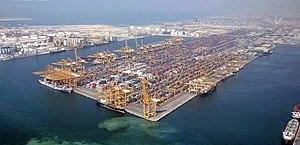 Port of Dubai Emirate, located on Jebel Ali di...