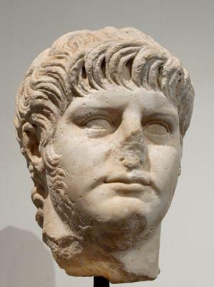 Portrait of Nero. Marble, Roman artwork, 1st c...