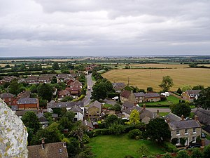 English: North East from Hanslope church. Hans...