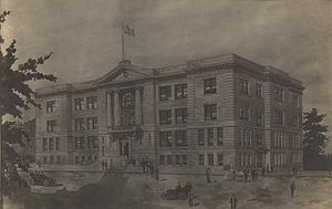 "Drawing of ""new Sidney Lanier High School..."