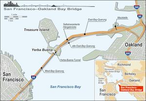 Deutsch: Übersichtsplan der San Francisco-Oakl...
