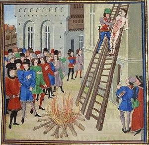 English: Illustration of the execution of Hugh...