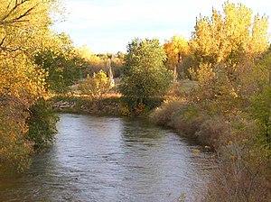 English: Cache La Poudre River as it flows thr...
