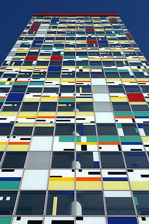 """Colorium"" office building in Medien..."